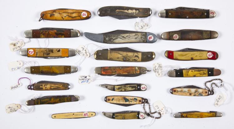 Group of 20 Vintage Nude Pocket Knives
