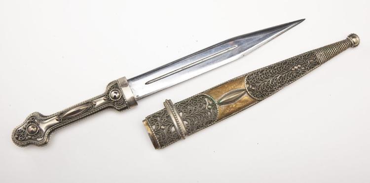 Russian Kindjal Dagger & Scabbard