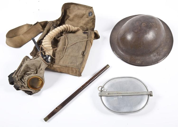 WWI Dough Boy Helmet & Related gear