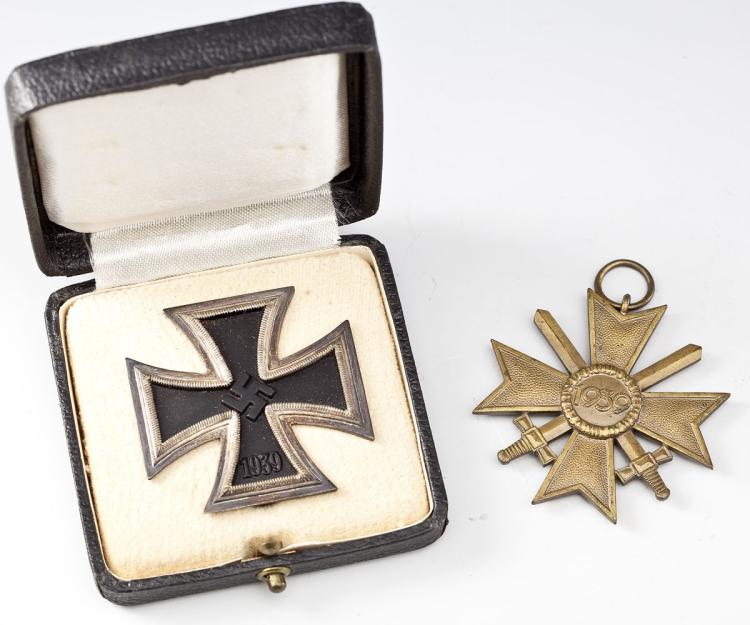 German WWII Iron Cross & War Merit Cross