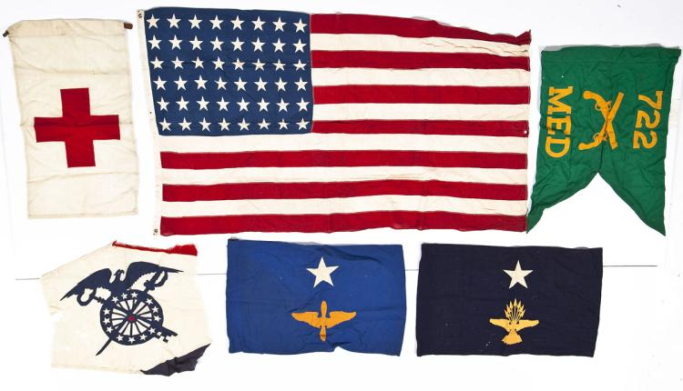48 Star US Flag and Miscellaneous Banners