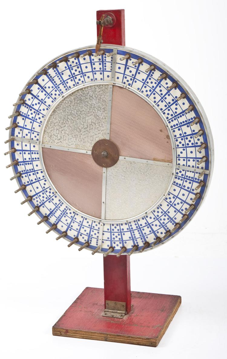 Carnival Roulette Wheel with Dice Motif