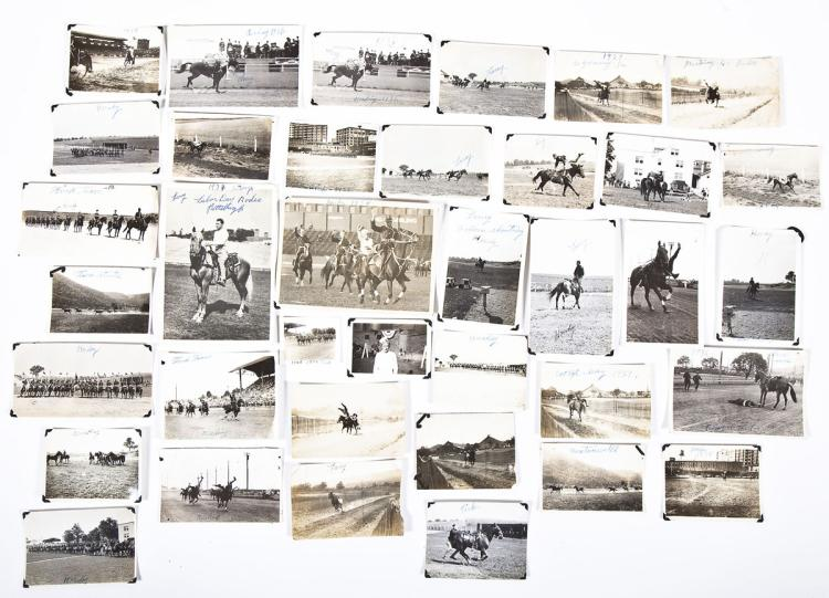 38 PA State Police Black & White Photos of Rodeos
