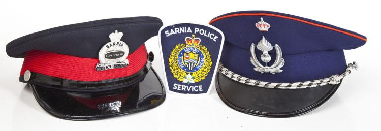 2 Canadian Police Caps and Patch