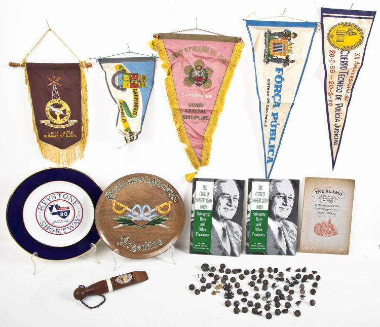 Miscellaneous Police Pennants, Buttons & Plates