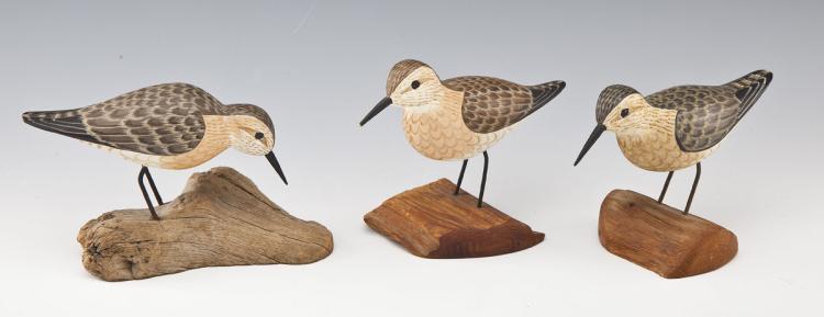 3 Harry Shourds Shore Bird Decoys