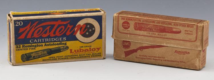 2 Boxes of Vintage .32 Remington Ammunition