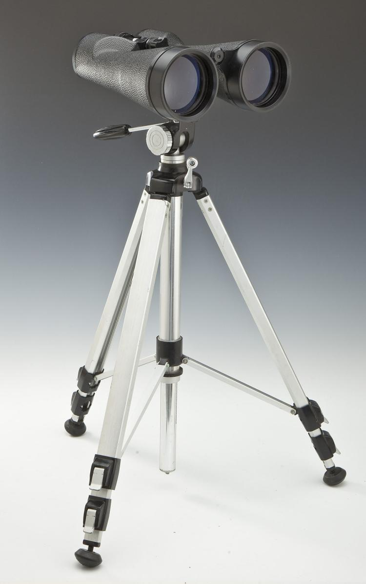 Celestron 11x80mm Binoculars with Bushnell Tripod