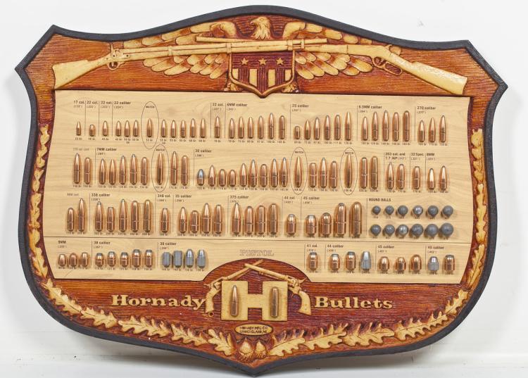 Hornady Bullet Display Board