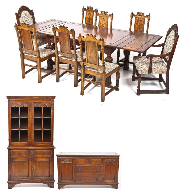 John Stuart Jacobean Revival Dining Room Set : H4091 L111887656 from www.invaluable.com size 750 x 775 jpeg 76kB