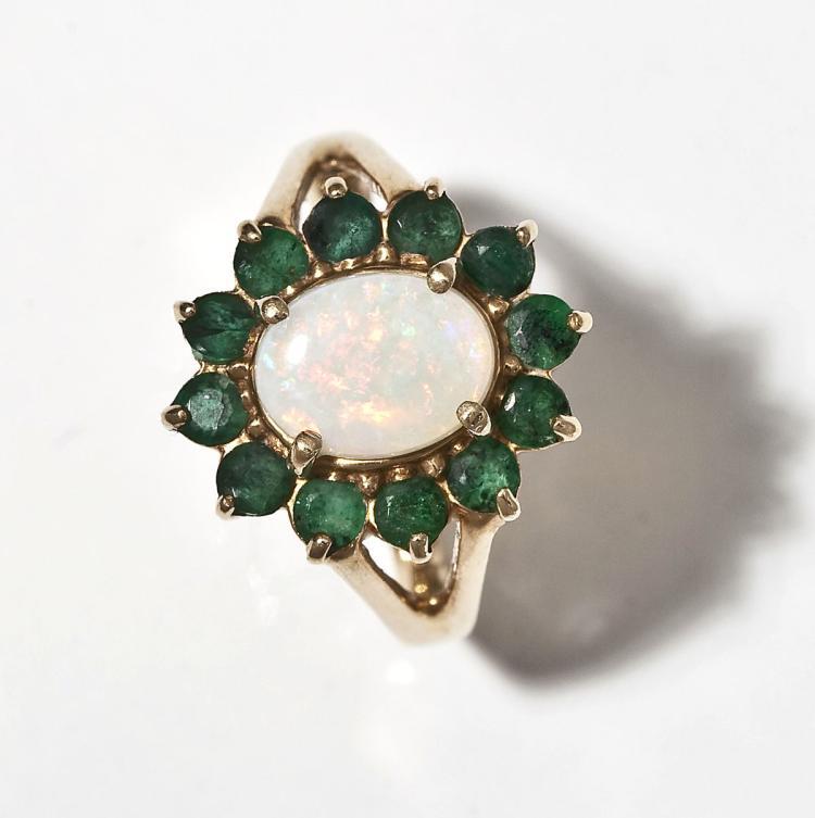 opal emerald ring