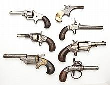 7 Spur Trigger Revolvers & Pistols