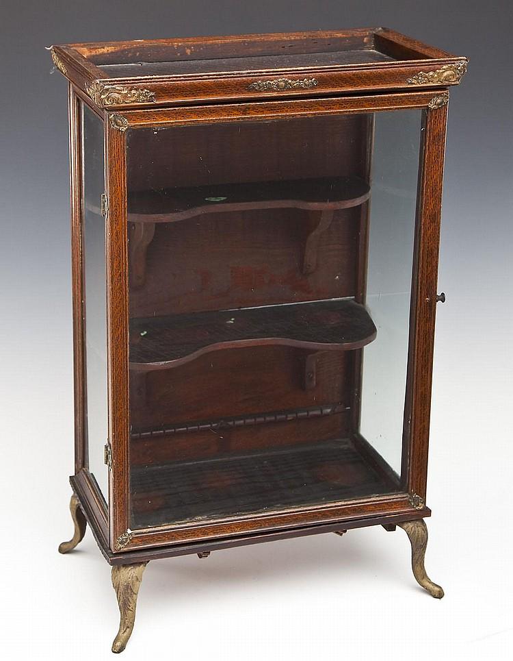 Small wooden curio cabinet