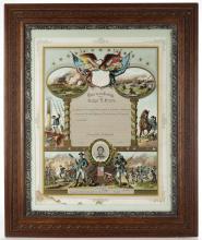 Framed Hand Calligraphed Civil War Record