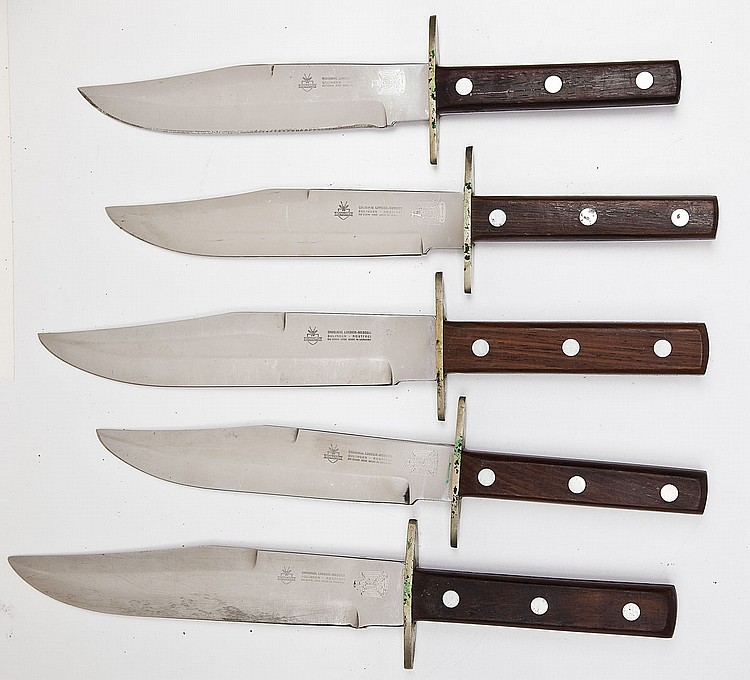 5 Iraqi Eagle Marked Linder-Messer Bowie Knives