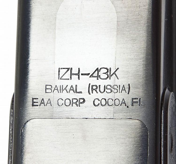 Baikal Model IZH-43K SxS Shotgun - 12 Ga