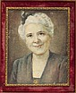 Watercolor Ivory Portrait of Mrs. George Reed