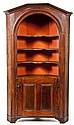 Open Arched Top Softwood Corner Cupboard