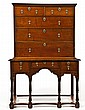 English William & Mary Two Part Highboy