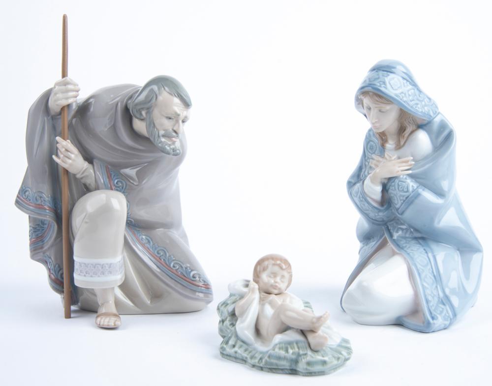 Porcelain Nativity Set 7 Pcs