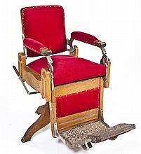 Oak Koken Barber Chair
