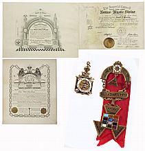 Masonic 14K Gold Fob & Badge of W.E. Green