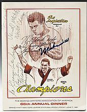 Muhammad Ali Signed Boxing Writers Assoc. Program