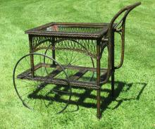 Wicker Tea Cart  #1570
