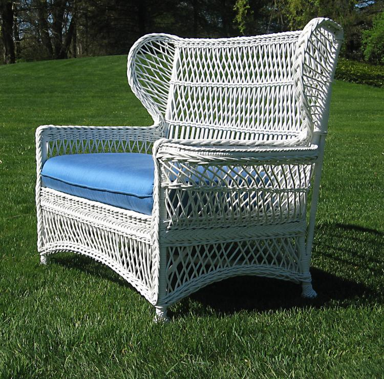Bar Harbor Wicker Wingback Settee #8672