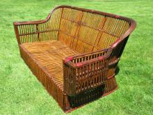 Stick Wicker/Rattan Sofa #8768