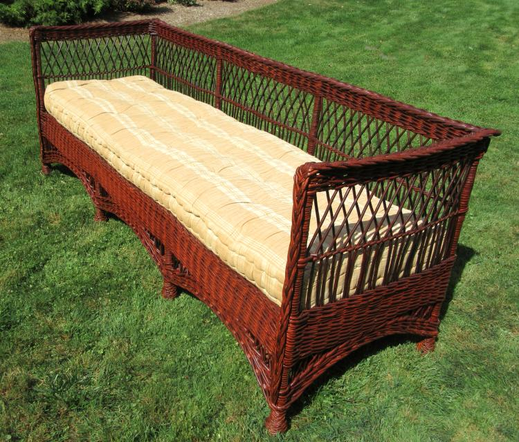 Bar Harbor Wicker Sofa #8768