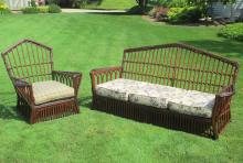 Two-Piece Stick Wicker Set #6771