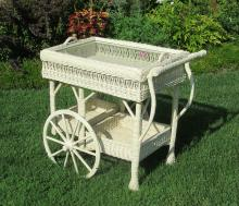 Bar Harbor Wicker Teacart #1636