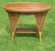 Art Deco Wicker Table #4375