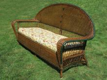 Art Deco Wicker Sofa #8280