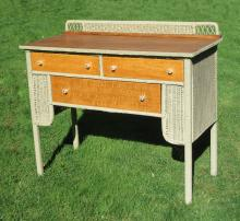 Art Deco Wicker Buffet #9477