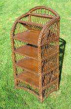 Bar Harbor Wicker Bookshelf/Music Stand #1647