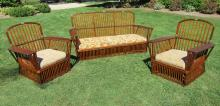 Three-Piece Stick Wicker Set #6896