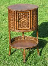 Art Deco Wicker Stand #4615