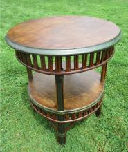 Stick Wicker End Table #4571