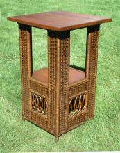 Mission Wicker Table  #4507
