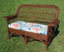 Bar Harbor Wicker Settee #8736