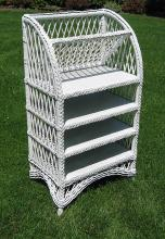 Bar Harbor Wicker Bookcase #1438