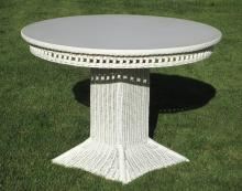 Art Deco Wicker Dining Table #9603