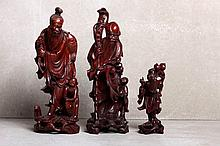 THREE ORIENTAL SCULPTURES