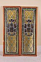 PAIR OF ARMORIAL STAINED GLASS