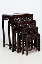 SET OF FOUR ORIENTALS NEST TABLES
