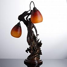 TABLE LAMP WITH TWO FIRES
