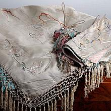 ORIENTAL BED COVER WITH TWO PILLOWS