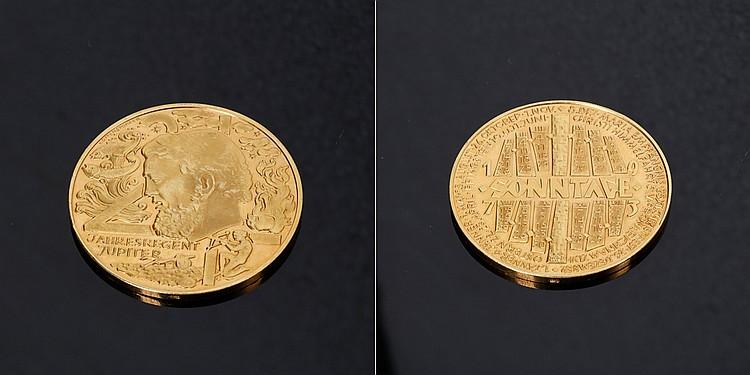 Calendario 1973.Medalha Calendario 1973